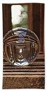 Crystal Ball In Wooden Lanterns Bath Towel