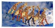 Curious Giraffes  Bath Towel