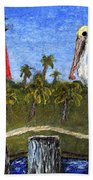 Aceo Dawn At Jupiter Inlet Lighthouse Florida 52a Hand Towel by Ricardos Creations