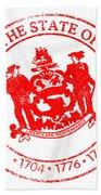 Delaware Seal Stamp Bath Towel