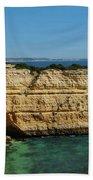 Deserta Beach Scene In Algarve Bath Towel