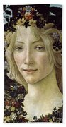 Detail From The Primavera, Circa 1478, Tempera On Panel Bath Towel