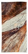 Detail Of Abstract Shape On Old Wood Bath Towel