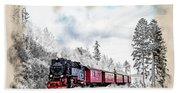 Diesel Powered Passenger Train Hand Towel