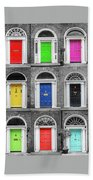 Doors Of Dublin - Vertical Hand Towel