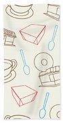 Doughnut_wallpaper_f3 Bath Towel