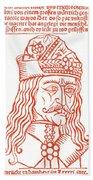 Dracula Or Vlad Tepes, 1491 Woodcut Hand Towel