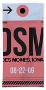 Dsm Des Moines Luggage Tag I Hand Towel