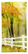Early Autumn Morning Hand Towel