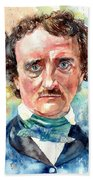 Edgar Allan Poe Portrait Bath Towel