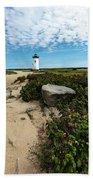 Edgartown Lighthouse Marthas Vineyard Bath Towel
