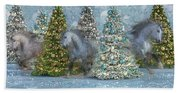 Equine Holiday Spirits Hand Towel