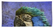 Blue Exotic Parrot- Pirates Of The Caribbean Bath Towel