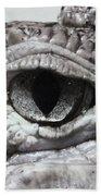 Eye Of Alligator Bath Towel
