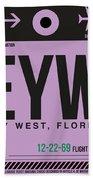 Eyw Key West Luggage Tag I Bath Towel