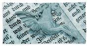 Fairytale Theme With Pegasus Horse Bath Towel