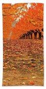 Fall Cherry Trees Hand Towel