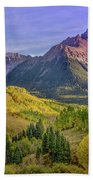 Fall Color In The San Juan Mountains Bath Towel by James Woody