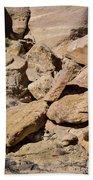 Fallen Sandstone Boulders Bath Towel