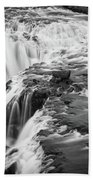 Falling Water On The Skoga River Hand Towel by James Udall