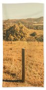 Farm Fields Of Eumundi, Sunshine Coast Bath Towel