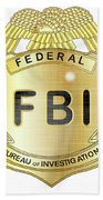 Fbi Badge Bath Towel