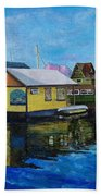 Fisherman's Wharf In Victoria Bath Towel