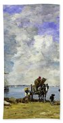 Fishermens Wives At The Seaside - Digital Remastered Edition Bath Towel