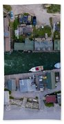 Fishtown Dam Panorama From Above Bath Towel