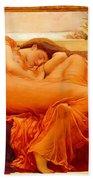 Flaming June Bath Towel