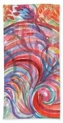 Floral Abstraction Bath Towel