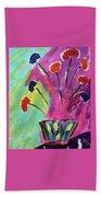 Flowers Gone Wild Bath Towel by Deborah Boyd