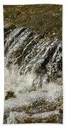 Flowing Water Over Rocks Bath Towel
