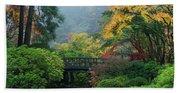 Footbridge In Japanese Garden Hand Towel