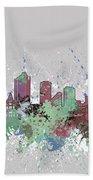 Fort Worth Skyline Artistic Pastel Bath Towel
