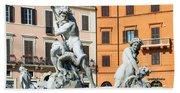 Fountain Of Neptune Bath Towel
