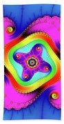 Fractal Art With Bold Colors Square Bath Towel