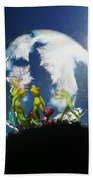 Frogs In A Bubble Hand Towel