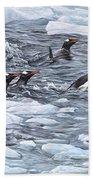 Gentoo Penguins By Alan M Hunt Bath Towel