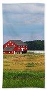 Red Barn On Sherfy Farm Gettysburg Bath Towel