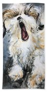Gizmo Canine Caricature Hand Towel by Ryn Shell