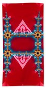 Gods Love And Mercy Is Infinite Fractal Abstract Hearts Bath Towel by Rose Santuci-Sofranko