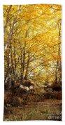 Golden Autumn Light Bath Towel