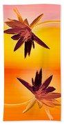Golden Duo Water Lilies Bath Towel