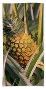 Golden Pineapple Bath Towel
