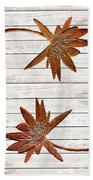 Golden Water Lily Duo Hand Towel