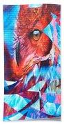 Graffiti Mural Design Bath Towel