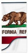 Grand Piano California Flag Bath Towel