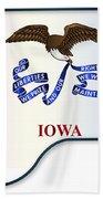 Grand Piano Iowa Flag Bath Towel