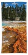 Grand Prismatic Spring Bath Towel by Mae Wertz